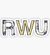 RWU Flowers Sticker