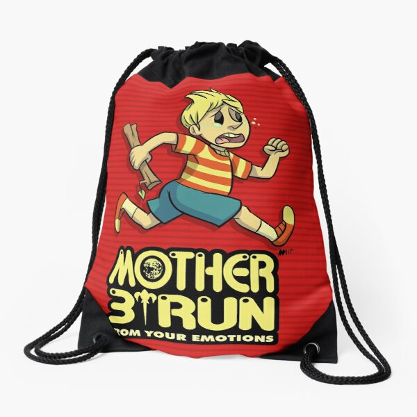 Mother 3- Run... From Your Emotions Drawstring Bag
