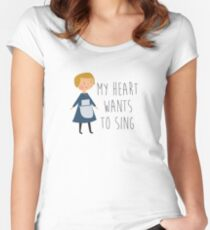 Sound of music maria Women's Fitted Scoop T-Shirt