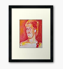 Young Brad Framed Print