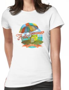 Hello summer and hello sea! Womens Fitted T-Shirt