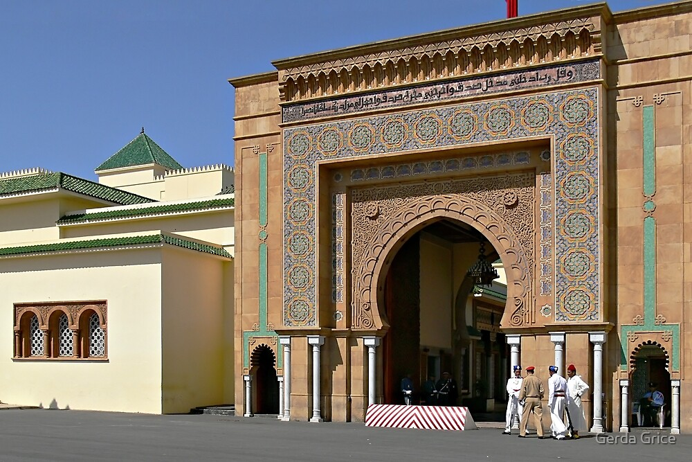 Detail of Imperial Palace, Rabat, Morocco by Gerda Grice