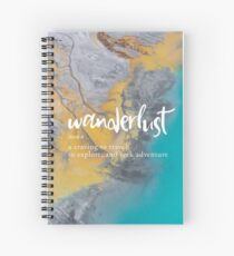 Wanderlust Definition - Topographical Map Spiral Notebook