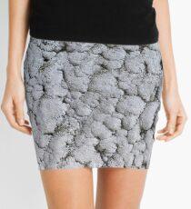 Salt crystals on a wall in a salt mine Mini Skirt