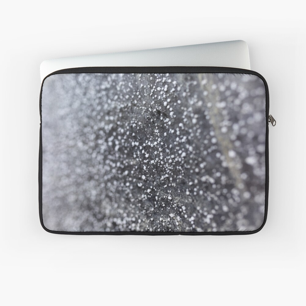 Salt crystals on a wall in a salt mine Laptop Sleeve