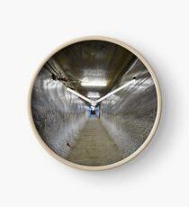 Underground tunnel in a salt mine Clock
