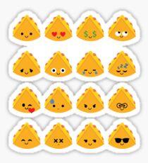 Quesadilla Emoji Different Facial Expression Sticker
