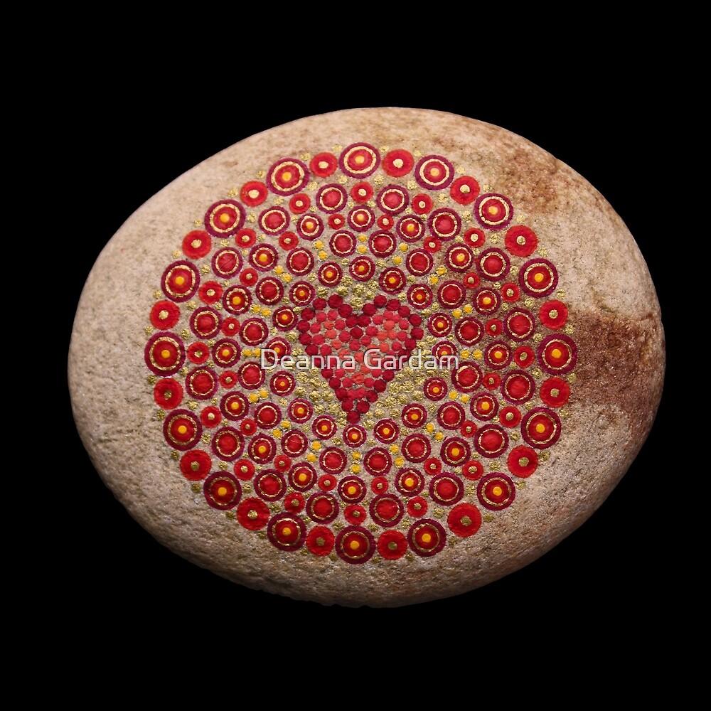 Mandala Stone - Love by Deanna Gardam