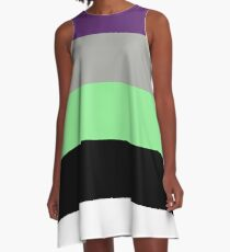 Buzz Color Pallet A-Line Dress