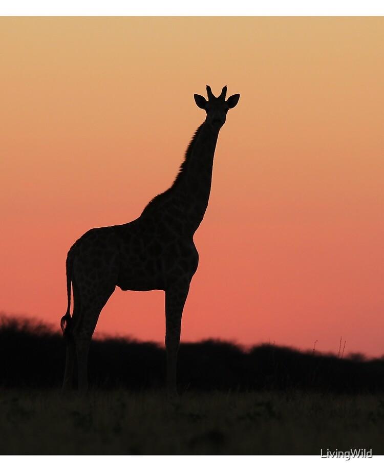 Giraffe Silhouette Pink African Sunset Ipad Case Skin By Livingwild Redbubble