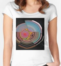 abstract circles Women's Fitted Scoop T-Shirt
