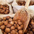 Sacks of walnuts by naturalis