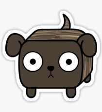 Pit Bull Loaf - Brindle Pitbull with Floppy Ears Sticker