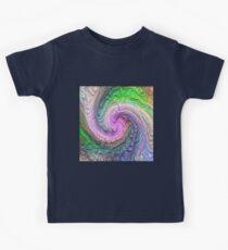 Frozen color Wave #DeepDream #Art Kids Tee