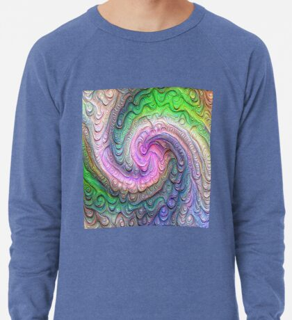 Frozen color Wave #DeepDream #Art Lightweight Sweatshirt