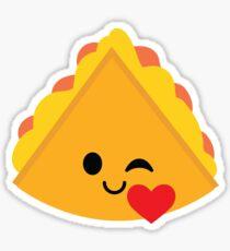 Quesadilla Emoji Flirt and Blow Kiss Sticker