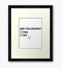 Drunk joking Framed Print