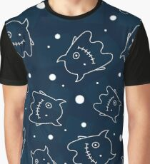 Seamless pattern with outlines of monsters Graphic T-Shirt