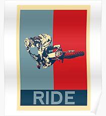 Ride - motocross, MX, enduro, dirt bike riding Poster