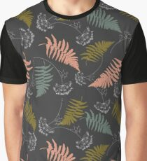 Fern leaves and dill flowers pattern. Graphic T-Shirt