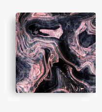Stylish rose gold abstract marbleized design Canvas Print