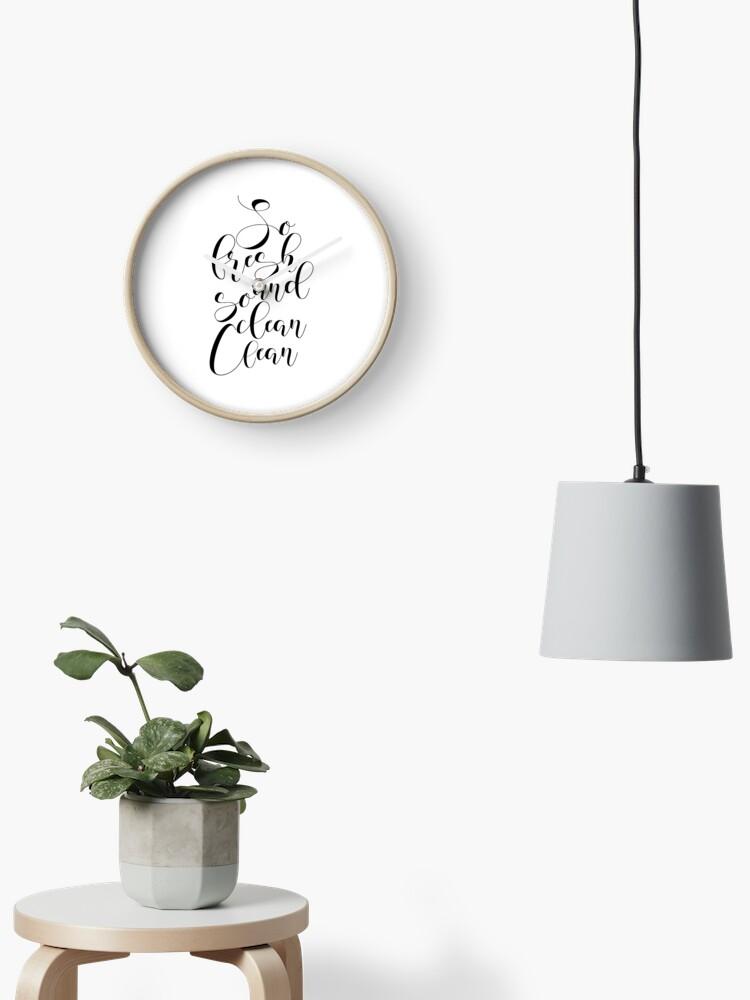 PRINTABLE ART, So Fresh And So Clean Clean, Bathroom Wall Art,Funny  Bathroom Decor, Black and White Art,Bathroom Art, Funny Bathroom Art  Clock