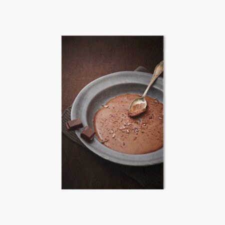 Mousse au Chocolat Art Board Print