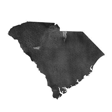 South Carolina Map Canvas, Art Print,South Carolina Skyline Home Decor, Wall Map Decor,South Carolina Wall Art Decor, Poster Watercolor by NathanMoore