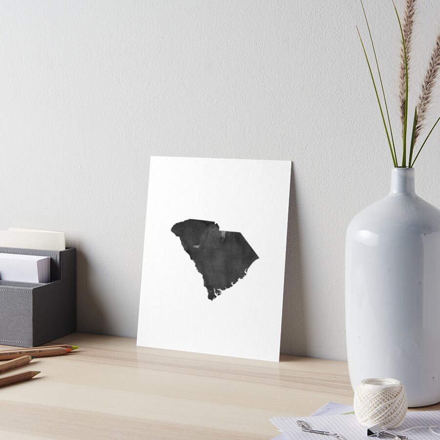 """South Carolina Map Canvas, Art Print,South Carolina"
