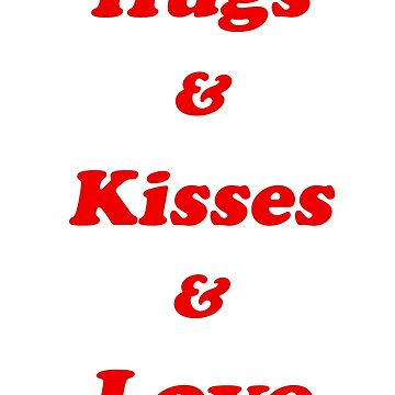 Valentine's Cards: Hugs & Kisses & Love by MADEBYCATHERINE