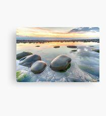 Glossy pebbles on Westward Ho! beach Canvas Print