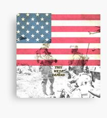 US Army Armed Forces USA Canvas Print