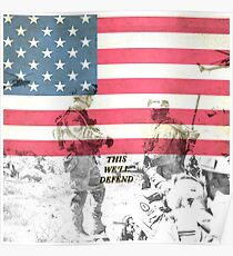 US Army Armed Forces USA Poster