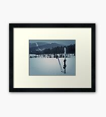 ski equipment Framed Print