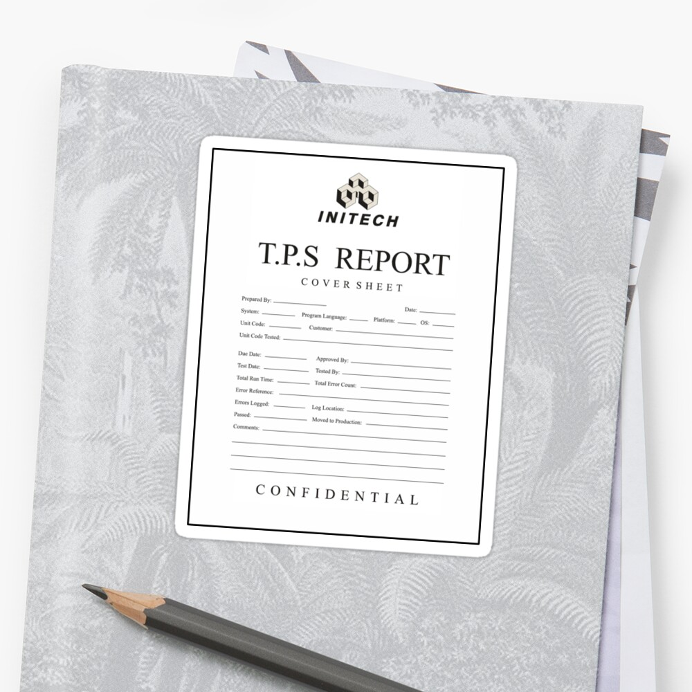 cover sheet report