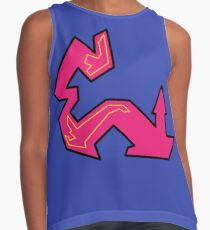 The letter E - Pink with yellow Contrast Tank