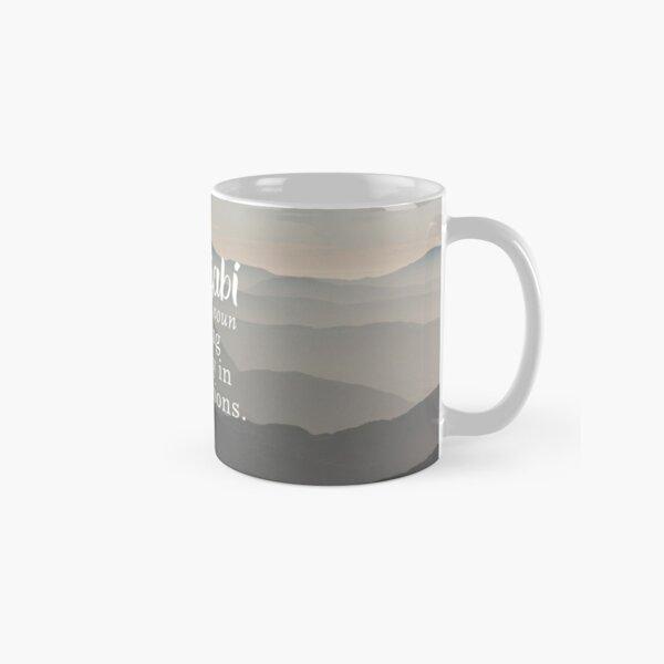 Wabi Sabi Beauty in Imperfections - Mountain Background Classic Mug