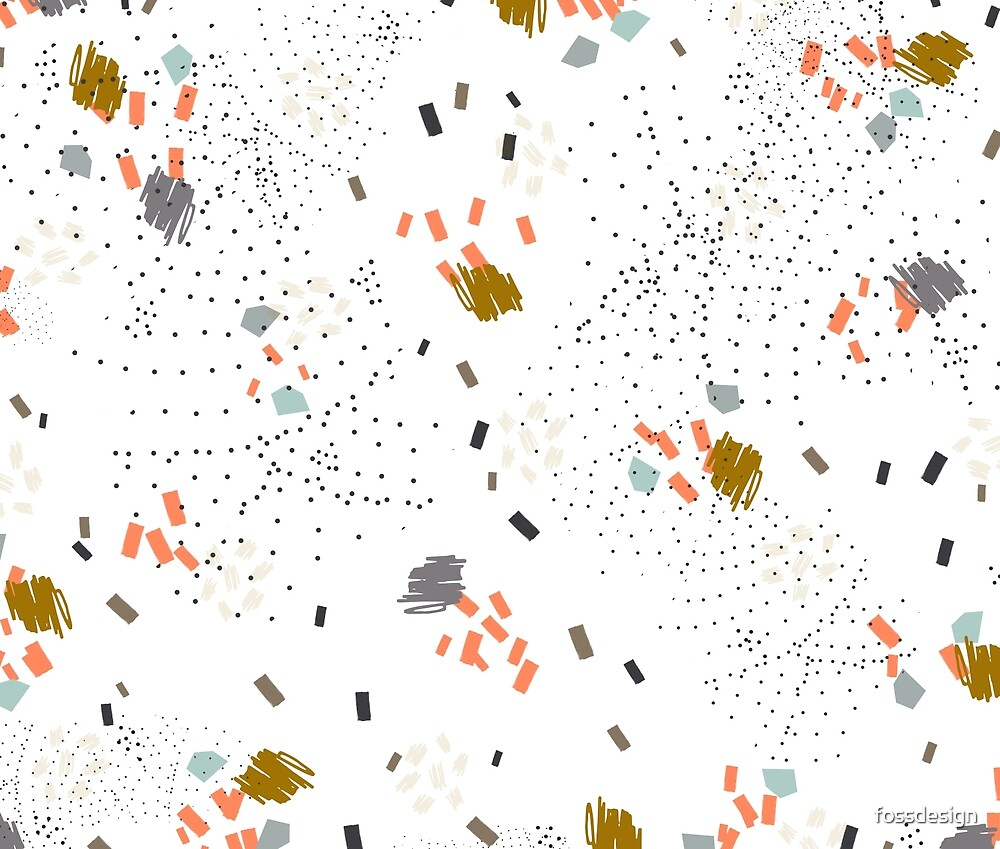 Crumpet - Mustard // Abstract Pattern Scribble by fossdesign