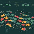 A Stream With Bright Fish by DankAnk