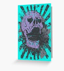 SCREAMING SKULL! SCREAMING SKULL! SCREAMING SKULL! Greeting Card