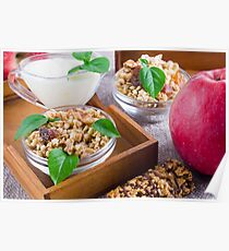 Healthy ingredients for breakfast Poster