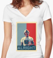 Wooderson (dazed & confused movie quote) - Alright Alright Alright Women's Fitted V-Neck T-Shirt