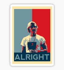 Wooderson (dazed & confused movie quote) - Alright Alright Alright Sticker