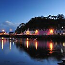 Portree Harbour at night by Rachel Slater