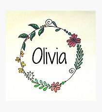 Personalised Names Photographic Print