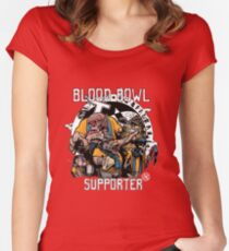 Blood Bowl Supporter 2 Women's Fitted Scoop T-Shirt