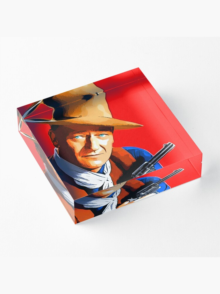Alternate view of John Wayne in Rio Bravo Acrylic Block