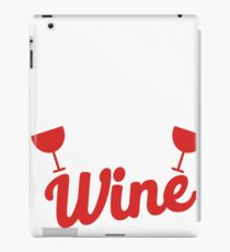 Will knit for wine iPad Case/Skin