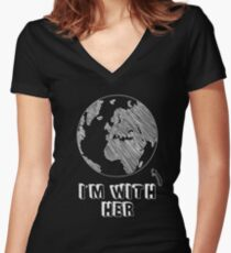 I'm Still With Her Mother Earth 2016 Presidential Election Funny Graphic Tee Shirt  Women's Fitted V-Neck T-Shirt