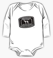 Republic of Newtown - 2014: White on Black Long Sleeve Baby One-Piece